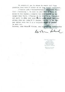 Christian Schad, Correspondance du 31/10/70 (2)