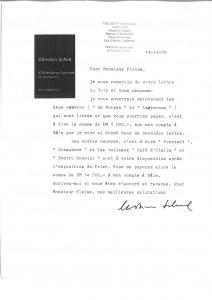 Christian Schad, Correspondance du 14/12/70