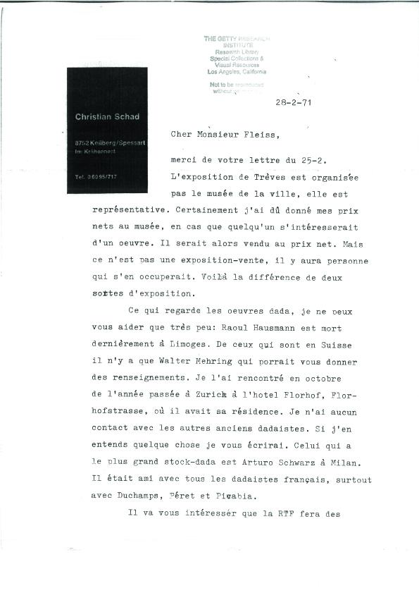 1-3-Christian-Schad-Correspondance-du-28-2-71