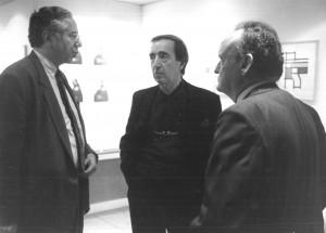 Marcel Fleiss, Pol Bury et Balthazar, photo André Morin