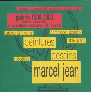 Marcel Jean, Paris, Galerie 1900-2000, 1987