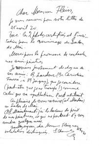 Serge Charchoune, Correspondance du 28/04/70