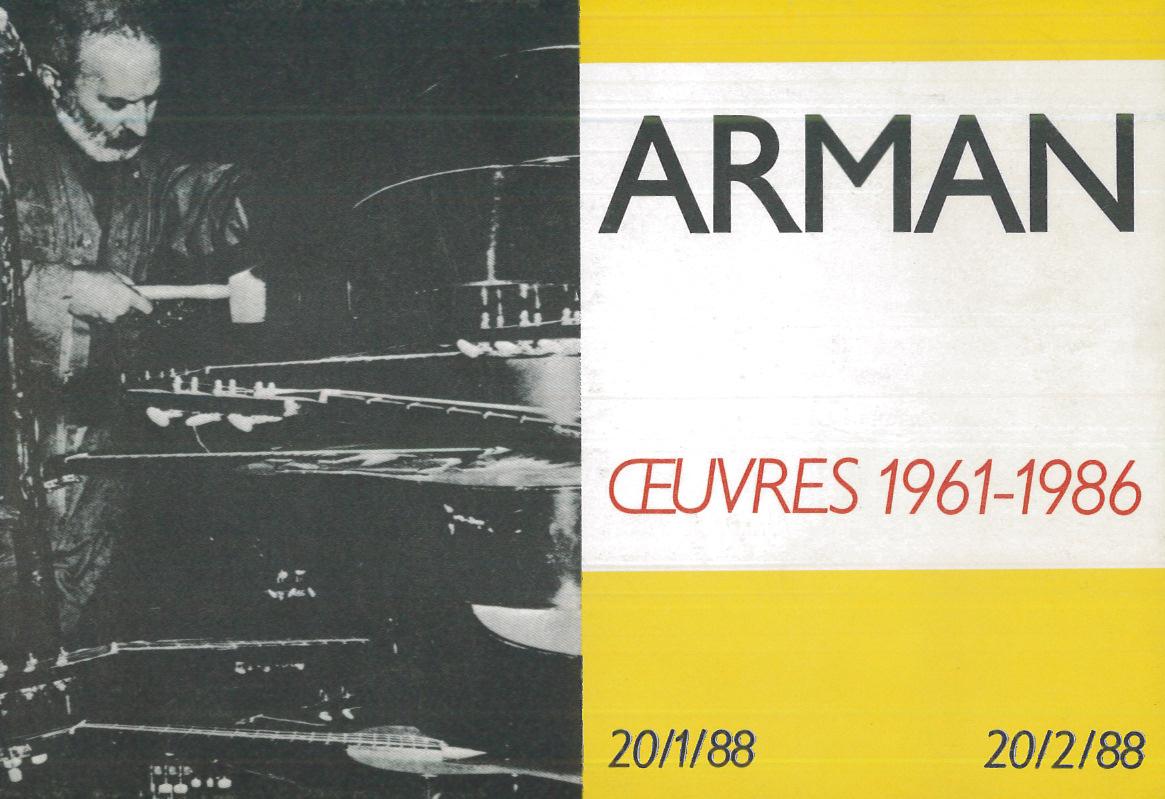22-3-Arman-Oeuvres-1961-1986-Paris-Galerie-de-poche-1988