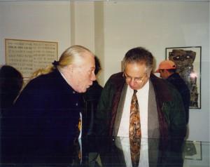 Leo Dohmen et Marcel Fleiss en novembre 1997, photo Mireille Sprengers