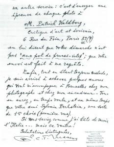 Mesens, Correspondance du 22/01/70 (2)
