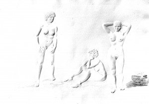 Salvador Dali, Gravure des 3 Graces, Copyright Collection R DESCHARNES