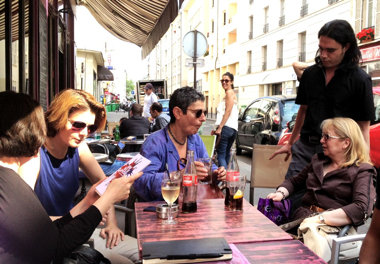 Le 6 Juillet 2013, après le lancement du CEMF, avec Maryam Namazie, Caroline Fourest, Nadia el Fani, Waleed al Husseini & la journaliste Martine Gozlan