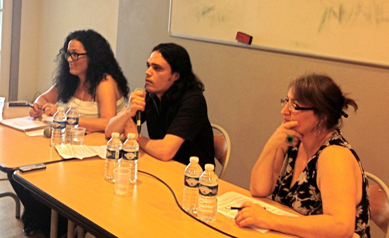 Le 6 Juillet 2013, à la tribune, Atica Samrah, Waleed el Husseine, et Soad Baba Aissa