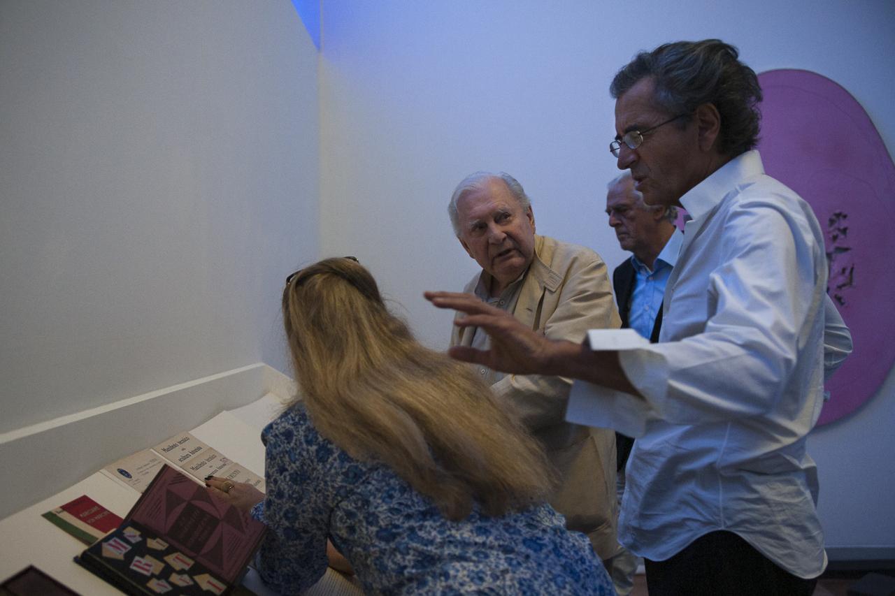 Isabelle Maeght, Paul Destribats, Gilles Hertzog et Bernard-Henri Lévy