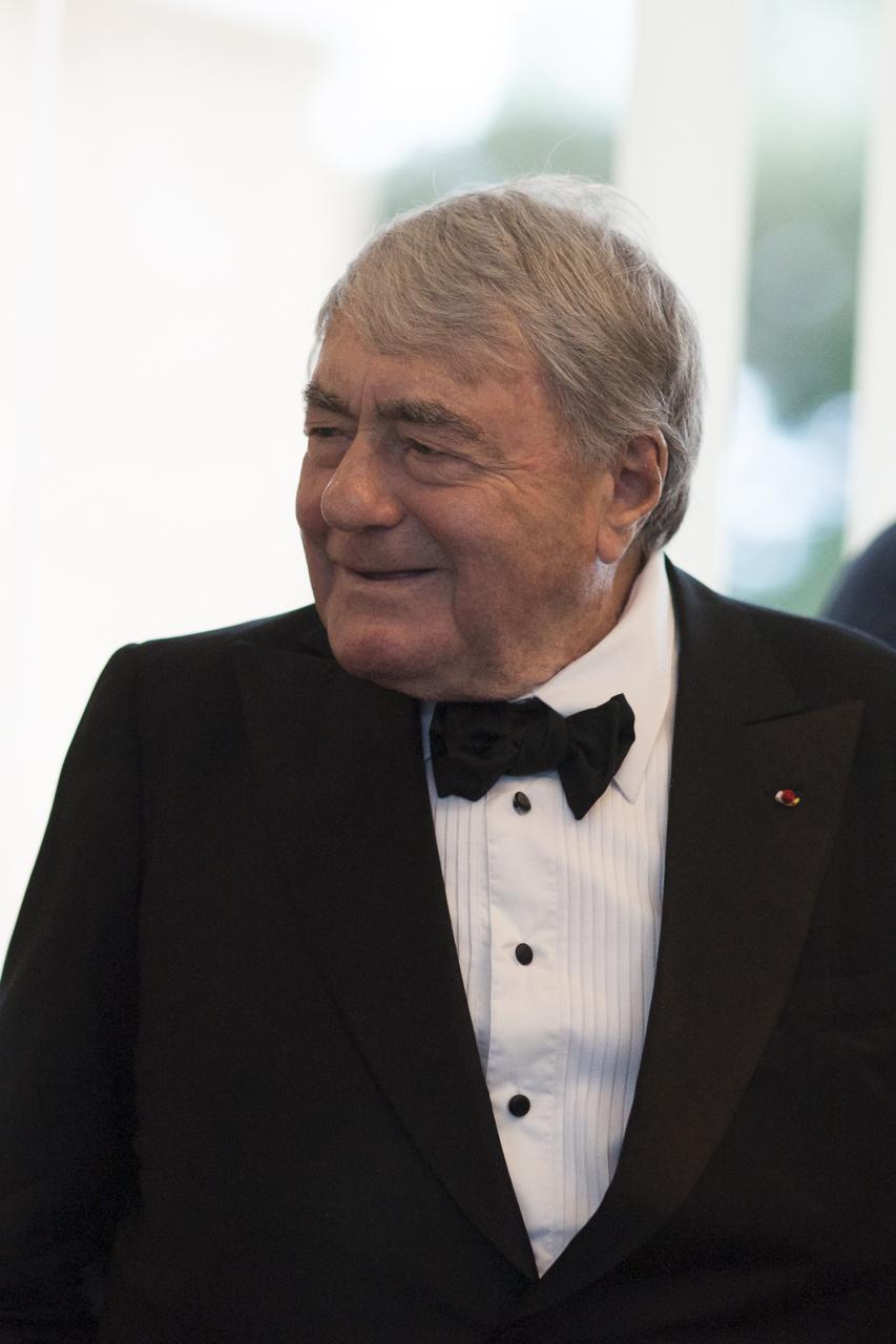 Claude Lanzmann au vernissage de l'exposition Les aventures de la vérité