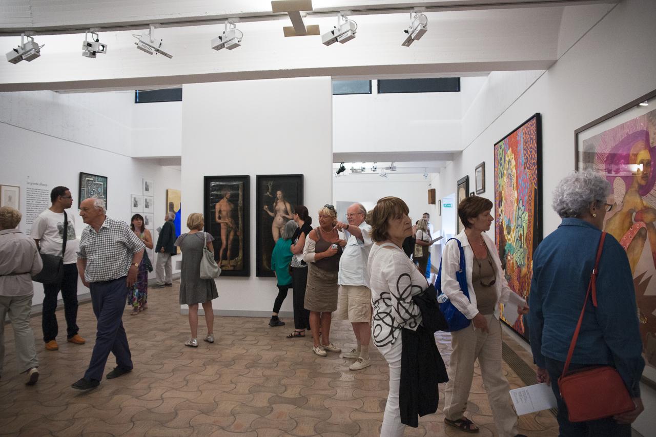 Inauguration de l'exposition Les aventures de la vérité, photo Yann Revol