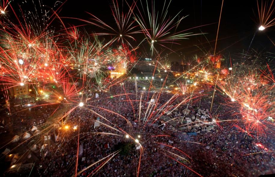 Mercredi soir, après l'éviction de Morsi, des milliers de manifestants se sont réunis sur la symbolique place Tahrir pour exprimer leur joie.