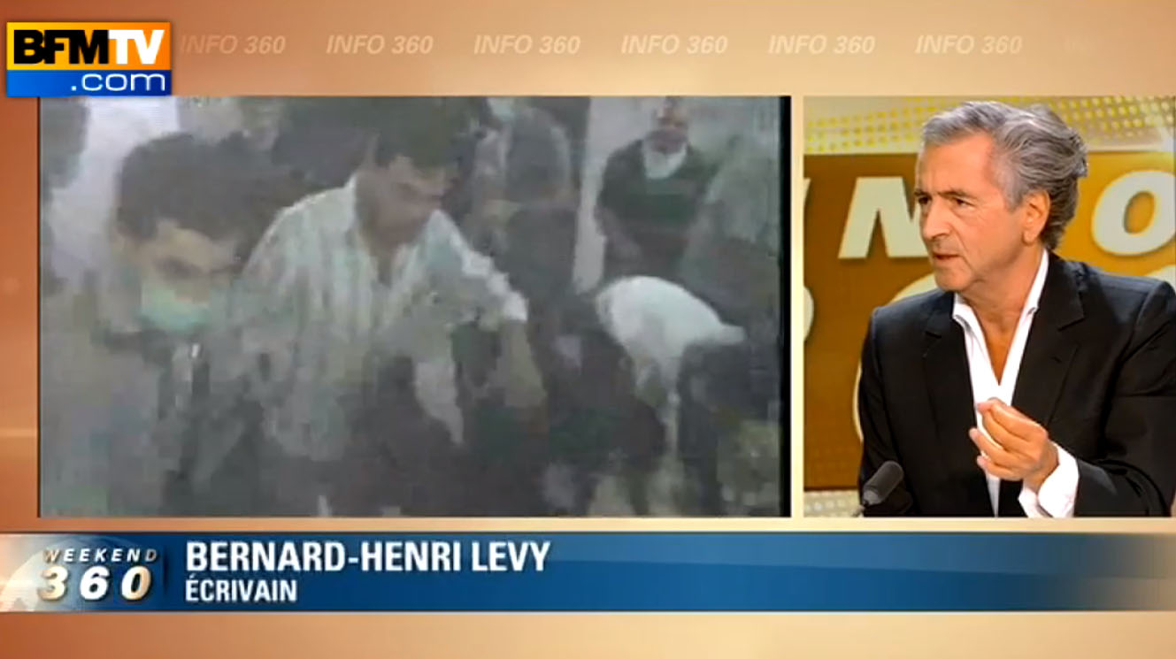 Bernard-Henri Lévy était en direct sur BFMTV le 22 août 2013.