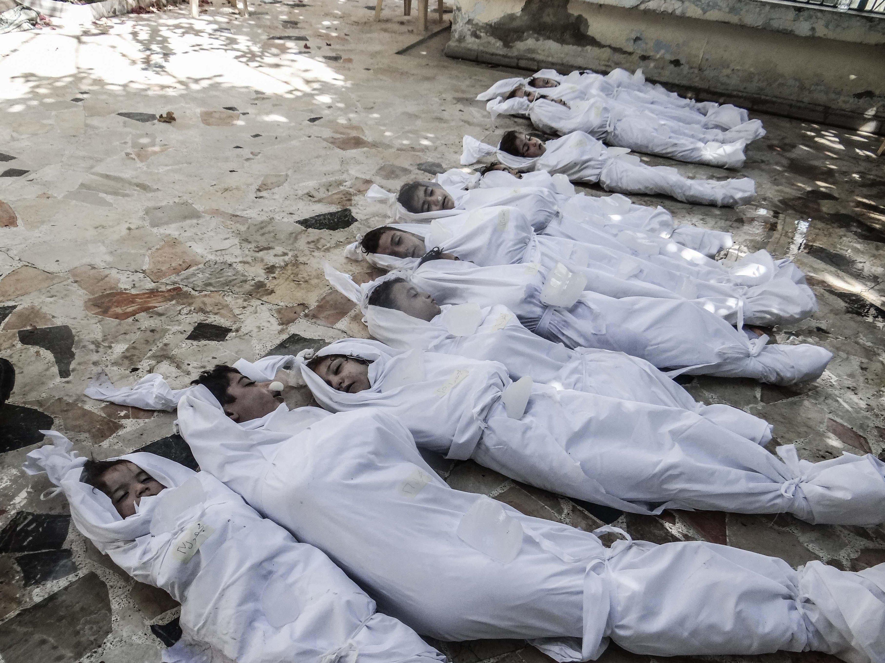 Victimes de l'attaque à l'arme chimique du mercredi 21 août 2013