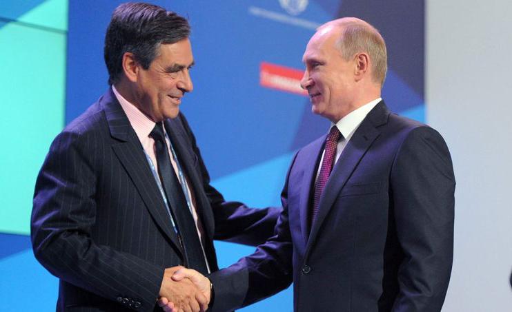 François Fillon et Vladimir Poutine, jeudi 19 septembre 2013