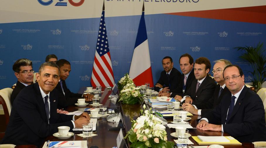 Barack Obama et François Hollande, le 6 septembre 2013 à Saint-Pétersbourg (Russie)