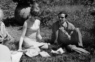 Truffaut et Julie Christie, tournage de Fahrenheit 451