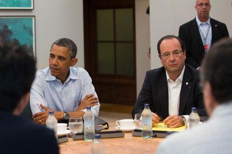 Barack Obama et François Hollande lors du sommet du G8 à Lough Erne, le 18 juin 2013
