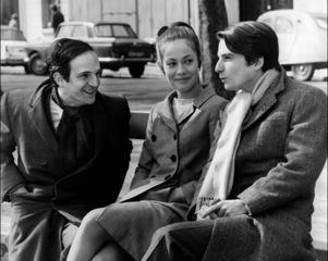 Truffaut sur le tournage de Baisers volés