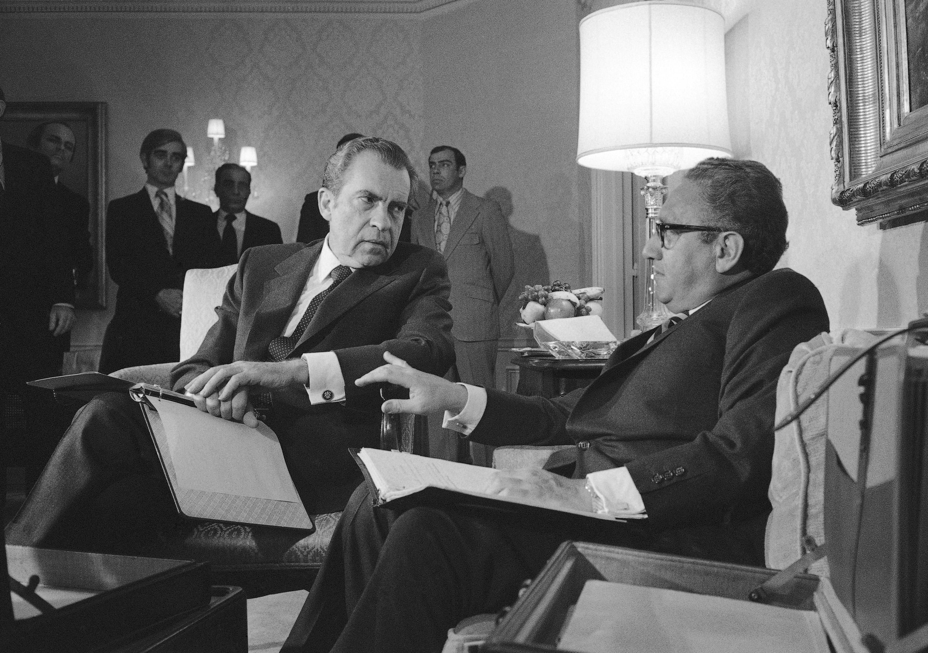 Richard Nixon et Henry Kissinger en 1972