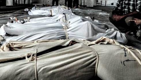 Victimes de l'attaque du 21 août dans la banlieue de Damas.