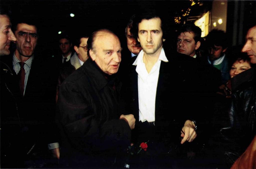 Alija Izetbegovic et Bernard-Henri Lévy en janvier 1993.