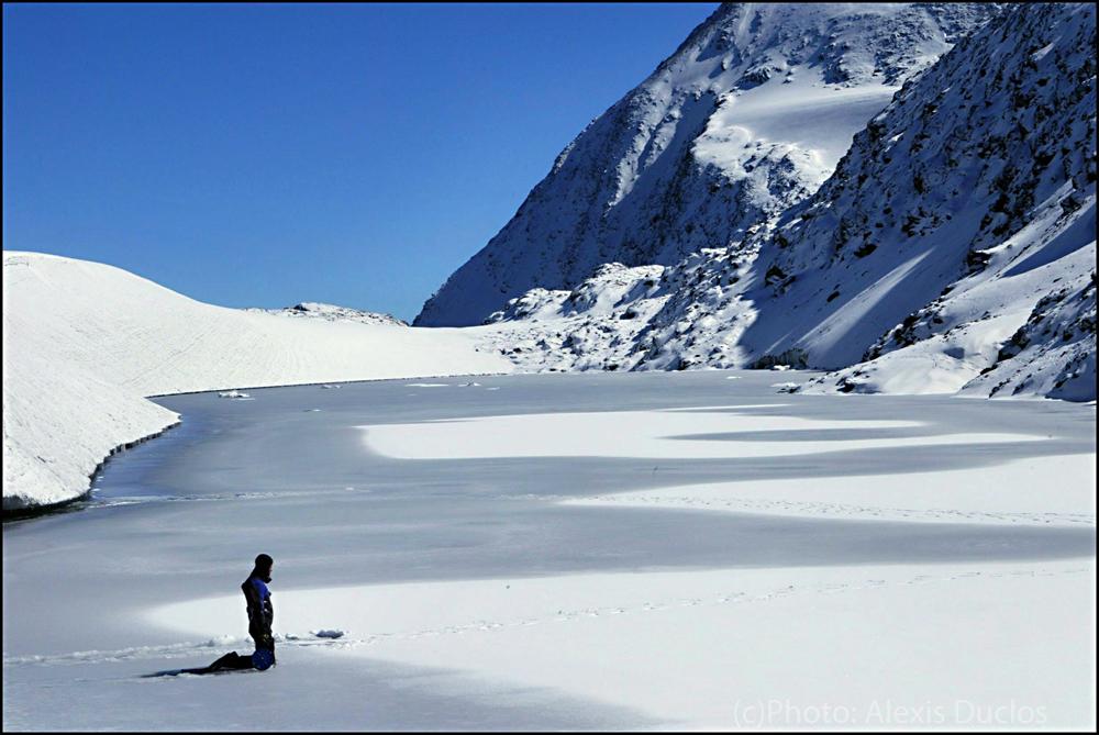 Mission d'observation sur le glacier de Rochemelon. Photo : Alexis Duclos