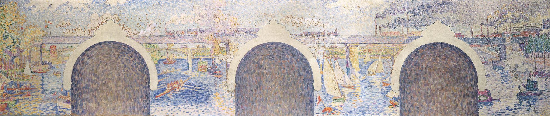 Esquisse pour le panneau central n°3, projet pour la mairie d'Asnières, 1900, coll. particulière. Photo : J. Hyde.