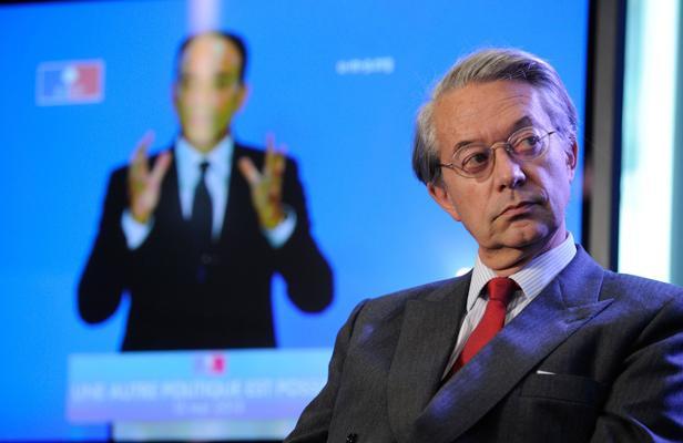 Le sénateur Philippe Marini le 15 mai 2013, lors d'une convention organisée par l'UMP, au siège du parti.