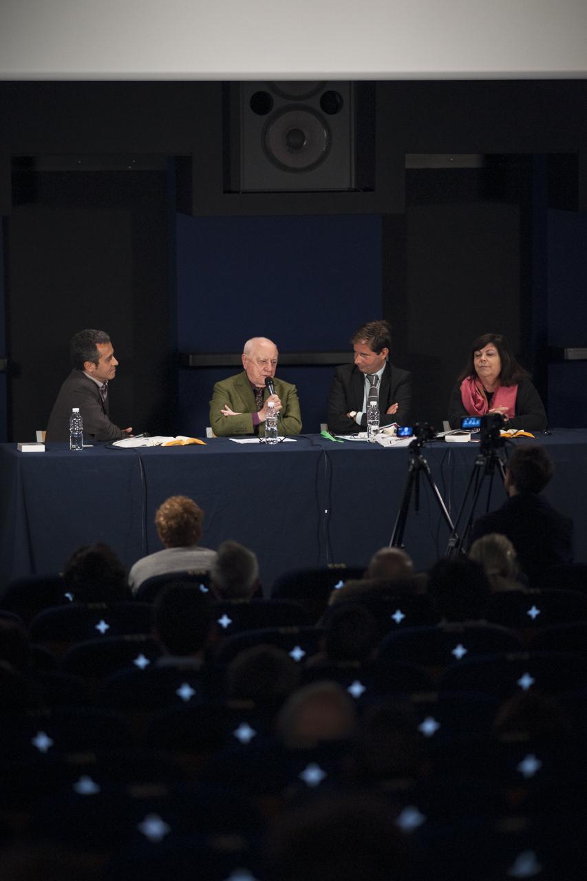 Serge Linares, Pierre Bergé, Alexis Lacroix et Dominique Marny