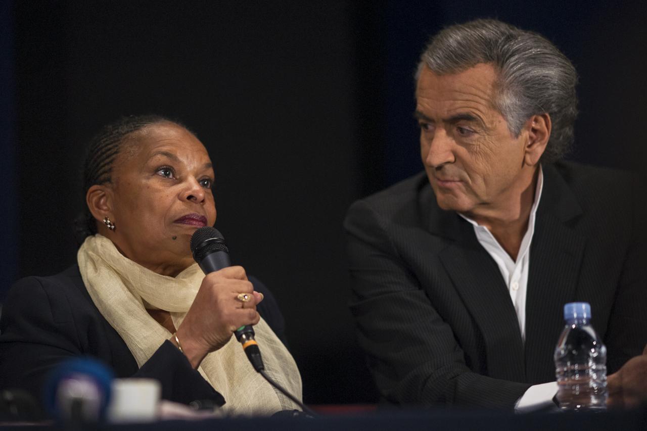 Christiane Taubira et Bernard-Henri Lévy © Yann Revol