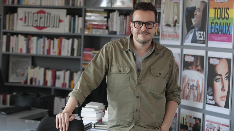Nicolas Demorand, directeur de la rédaction de Libération, dans son bureau.