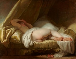 Jean-Honoré Fragonard, Jeune fille endormie, 1756-1761, galerie Sanct Lucas