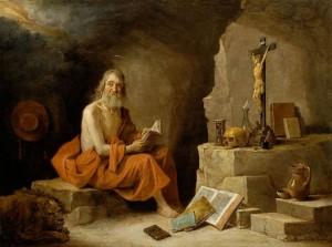 David Teniers le Jeune, Saint Jérôme, XVIIe siècle, galerie De Jonckheere