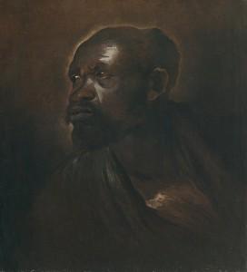 Giovanni Benedetto Castiglione, Etudes pour deux figures de maures, années 1650, galerie Carlo Virgilio & C.