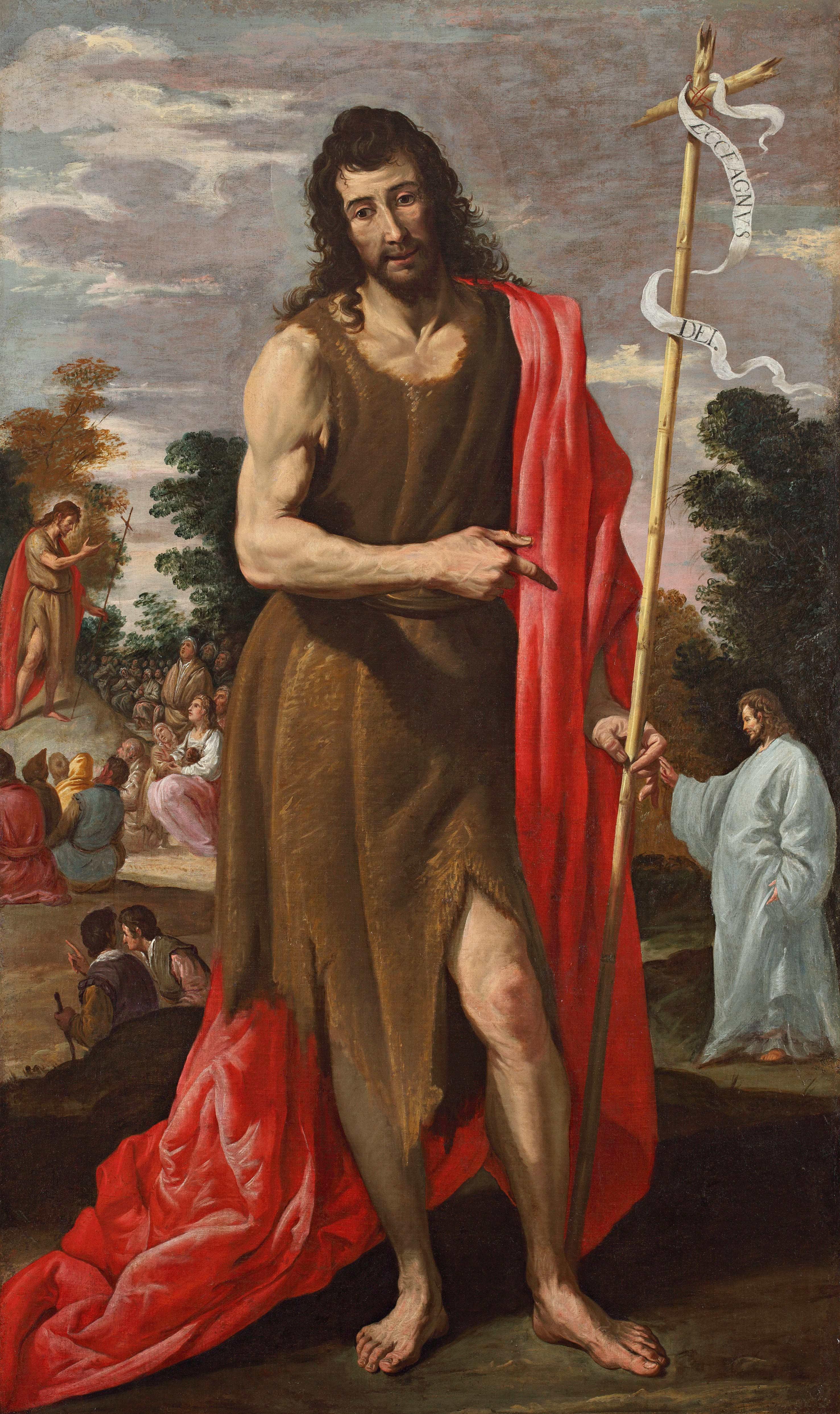 Jusepe Leonardo, Saint Jean-Baptiste, vers 1635-1640, galerie Terrades