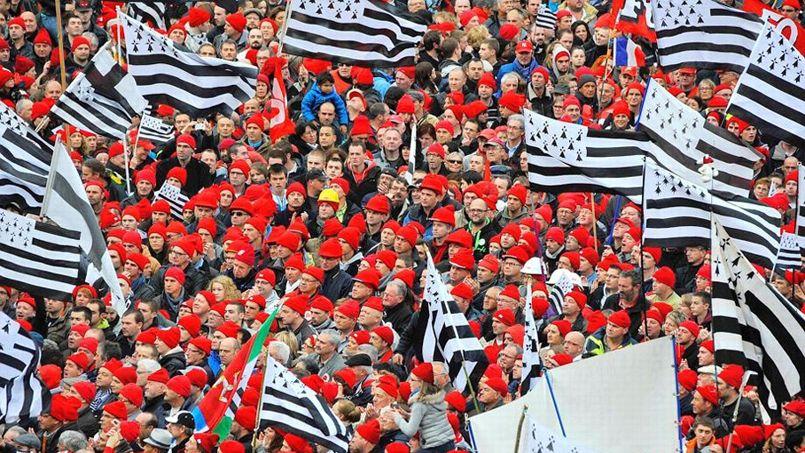 "Manifestation des ""bonnets rouges"" en Bretagne."