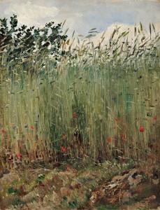 Adrien Moreau, Dans les champs, XIXe siècle, galerie Terrades