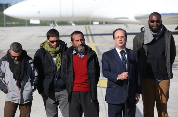 image des otages liberes