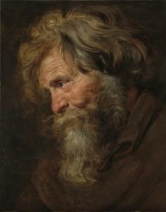Pierre-Paul Rubens, Etude (tronie) de vieil homme, vers 1615-1618, galerie Weiss