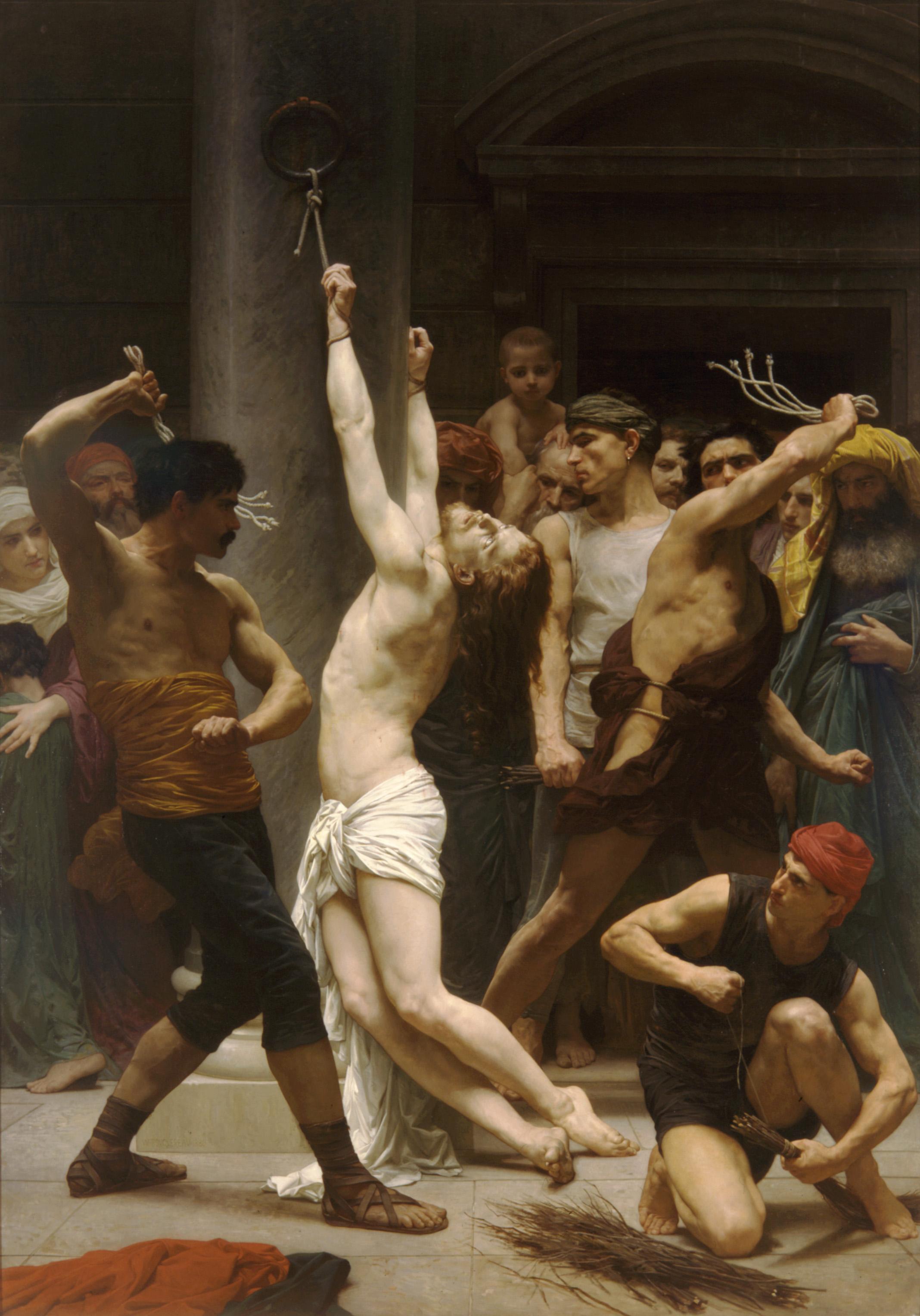 William Bouguereau (1825-1905), La Flagellation du Christ, 1880, huile sur toile, 390 x 210 cm, La Rochelle, cathédrale