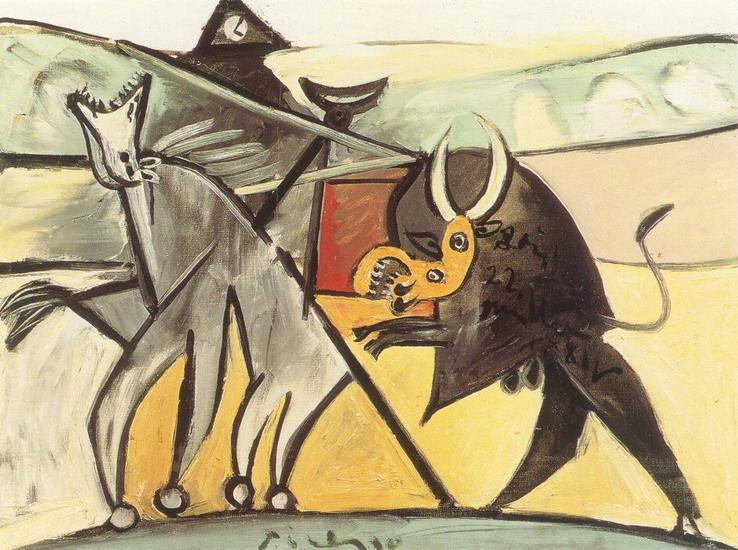 "Picasso, ""Courses de taureaux (Corrida) 1"", 1934"