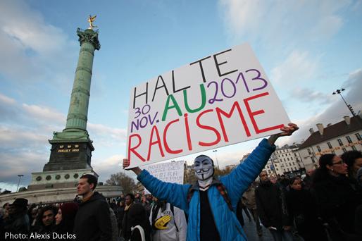 Manifestation contre le racisme à Paris, le 30 novembre. Photo: Alexis Duclos