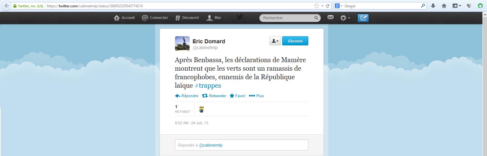 Eric-Domard-24-07-13-Les-verts-sont-un-ramassis-de-francophobes