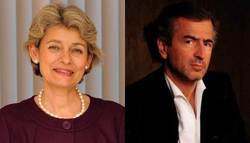 Irina Bokova et Bernard-Henri Lévy