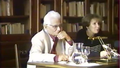 Capture d'écran de la conférence de Jacques Derrida, 15 juillet 1997