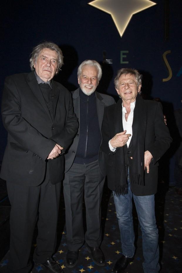Jean-Pierre Mocky, Alejandro Jodorowsky et Roman Polanski hier soir lors de la soirée de remise du Prix Saint-Germain.