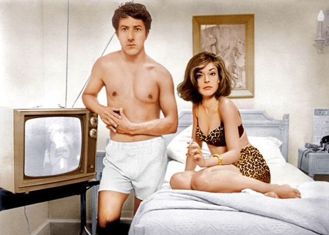 Dustin Hoffman et Anne Bancroft dans Le Lauréat