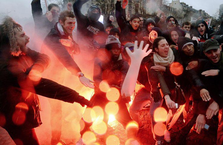 Lors du «jour de colère», le 26 janvier 2014 à Paris. (Photo Pierre Andrieu)