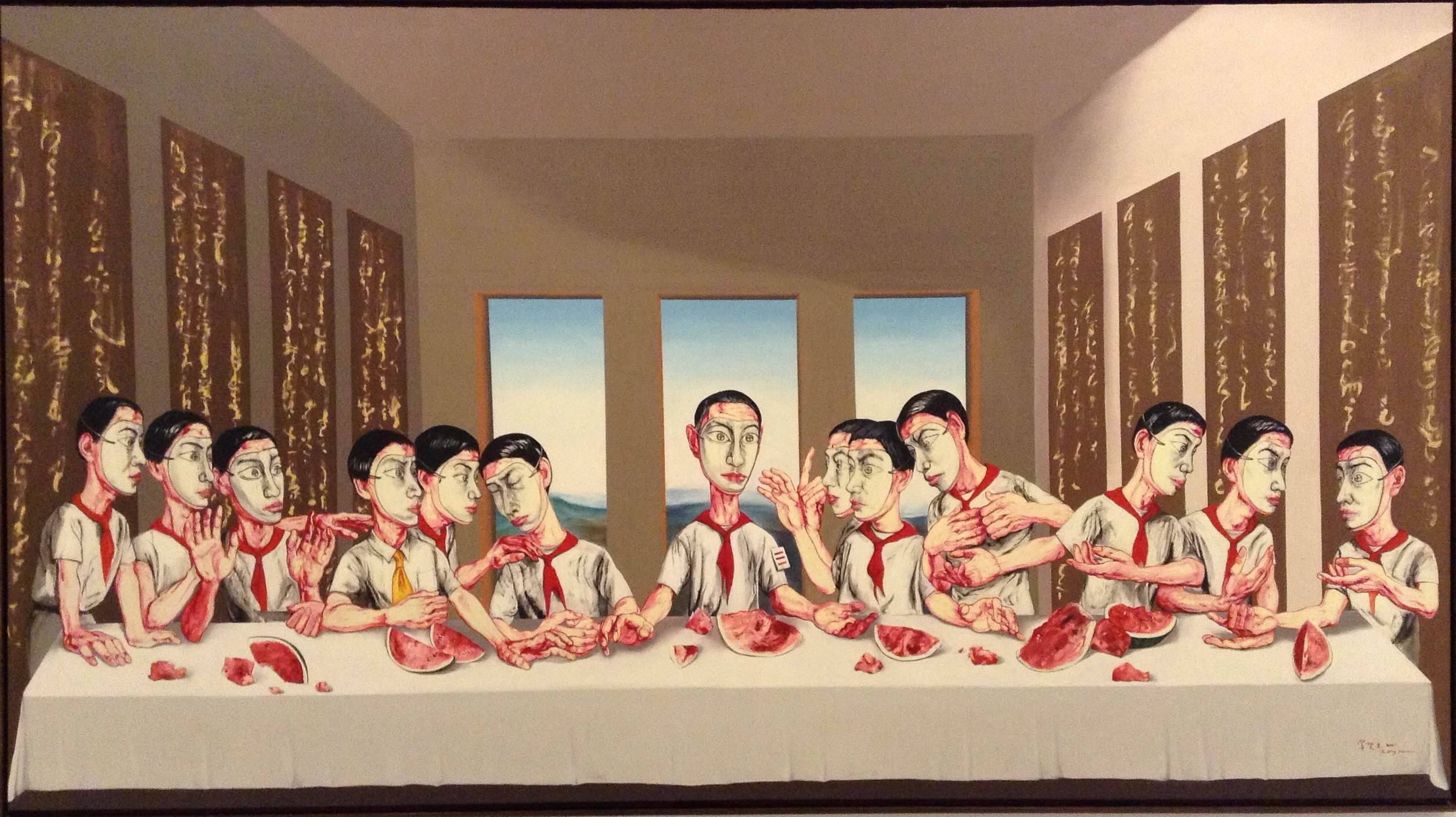 Zeng Fanzhi, The Last Supper, 2001